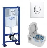 Pack Grohe Rapid SL + Cuvette Connect Ideal Standard + différentes plaques