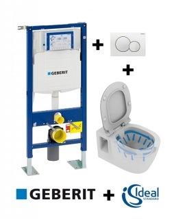 Pack WC Geberit UP320 + Cuvette sans bride CONNECT + Sigma Blanche