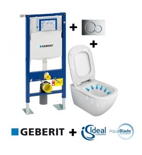 Pack Geberit UP320 + Cuvette AquaBlade TESI + Sigma Chromé Brillant