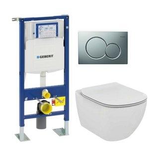 Pack WC Geberit UP320 + Cuvette AquaBlade TESI + Sigma chromé Mat