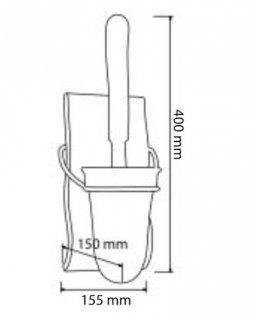 Porte balai assorti avec réceptacle en résine gamme SAHARA