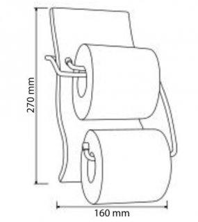 Porte papier avec réserve assorti gamme SAHARA