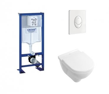 Pack WC Grohe Rapid SL + Cuvette O'Novo VILLEROY + Plaque Blanche