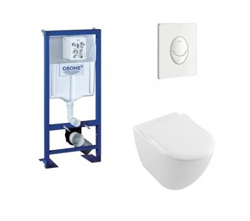 Pack WC Grohe Rapid SL + Cuvette Subway 2.0 Villeroy + Plaque Blanche