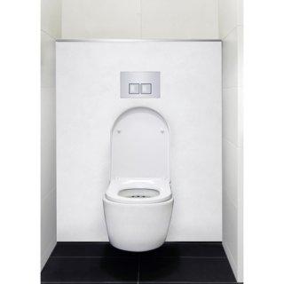 Habillage décoratif Bâti WC DECOFAST Élégance Blanc Satiné