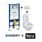Pack Geberit UP320 + Cuvette GAP sans bride Cleanrim + plaque SIGMA