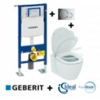 Pack Geberit UP320 + Cuvette AquaBlade CONNECT + plaque Sigma