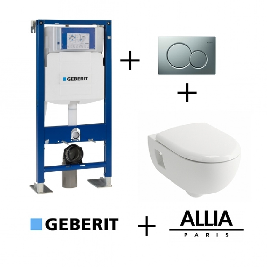Cuvette De Wc Suspendu Geberit pack wc geberit up320 + cuvette prima+ allia + plaque sigma chromé mat